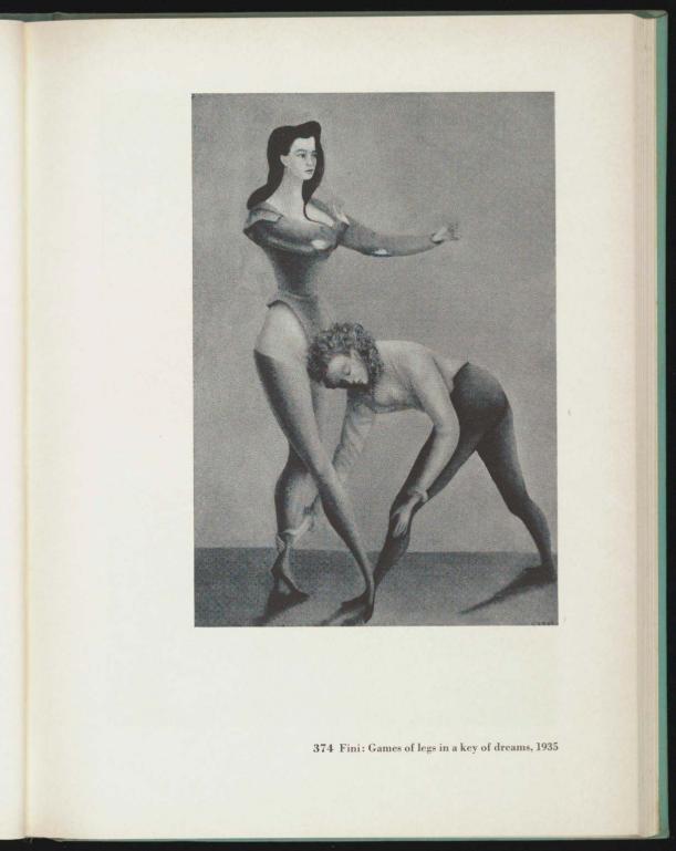 Jeux de jambes dans la clef du rêve, 1936 en el catálogo de Fantastic art, dada, surrealism.