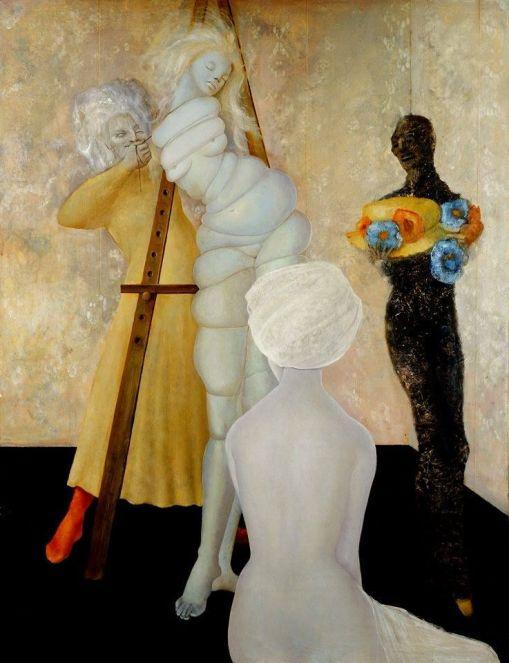 Leonor Fini, L'essayage, 1958