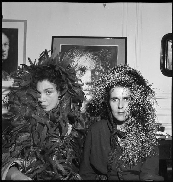 Leonor Fini y Leonora Carrington